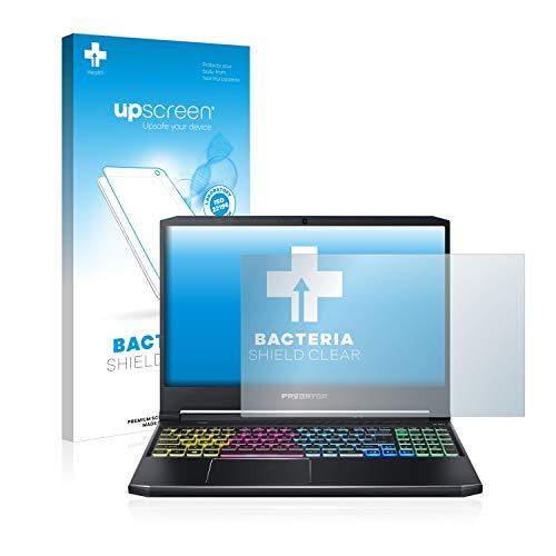 upscreen Antibakterielle Schutzfolie kompatibel mit Acer Predator Helios 300 klare Bildschirmschutz-Folie