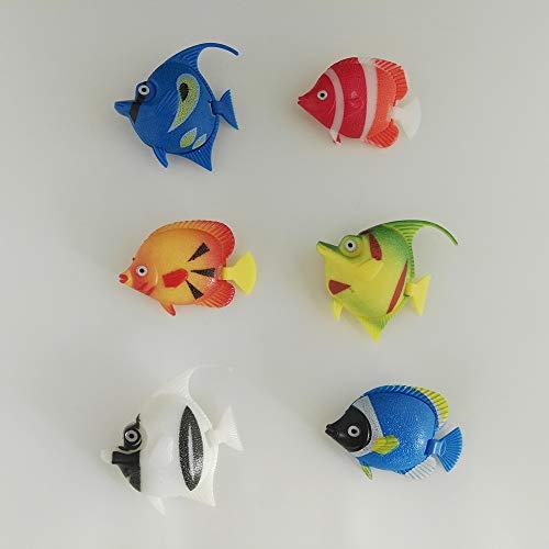 Dapo Leuchten Wassersäulenzubehör Fisch-Set Bunte Fische Ersatzfische Schwimmer Dekoartikel Aquarium Dekoration