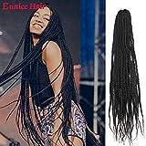Eunice 6Packs 30 inch Box Braids Crochet Hair Pre looped Synthetic Hair Extensions 3S Box Braids...