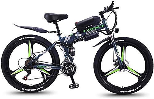 Bicicleta electrica Bicicletas eléctricas para adultos, 26 '' Bicicletas plegables de MTB para hombres mujeres, 36V 350W 13Ah Batería de bicicleta de batería de litio extraíble, para viajes de ciclism