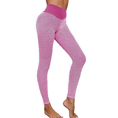 Mallas de Costura de Cintura Alta de Panal para Mujer, Pantalones de Yoga para Ejercicio físico, Pantalones Puri, Pantalones de Yoga, Pantalones de Yoga para Mujer, Pantalones de Fitness
