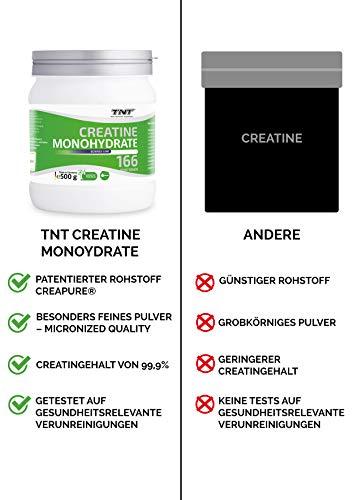 TNT Creapure® Creatine – 100% Kreatin-Monohydrat – Leistungssteigerung und Kraftschub im Training – 500g Dose - 6