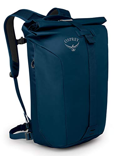 Osprey Europe Unisex-Adult Transporter Roll Backpack, Deep Water Blue, O/S