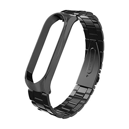Tsorryen Pulseira de substituição de aço inoxidável para pulseira Mi Band 6 acessórios inteligentes