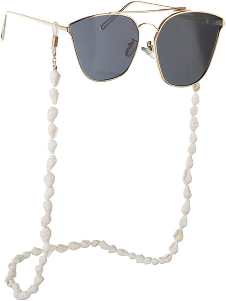 YFQHDD 2pcs Convenient Shell Sunglasses Holder Neck Strap Rope R