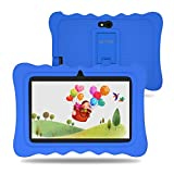Lectrus 7 inch Kids Tablet with Camera, 2GB RAM 16GB ROM, Android 9.0 Tablets, WiFi Android Learning Tablet, IPS Safety Eye Protection Screen, Parents Control Mode, Kid-Proof Case, Blue