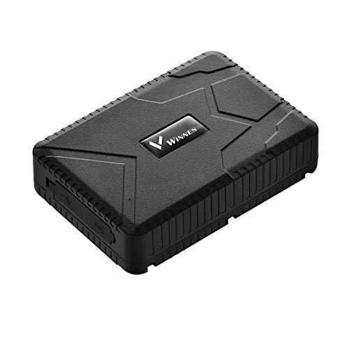 Winnes GPS Tracker Voiture Traceur GPS Traqueur Temps de Veille 120 Jours Localisateur GPS Traceur Véhicule en Temps Réel Localisateur GPS/A-GPS/LBS Traceur Antivol Voiture Moto Camion TK915