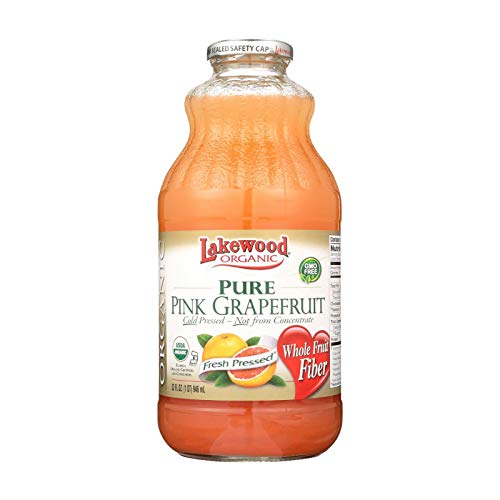 Lakewood Pure Pink Grapefruit Juice - Grapefruit - Case of 12 - 32 Fl oz.