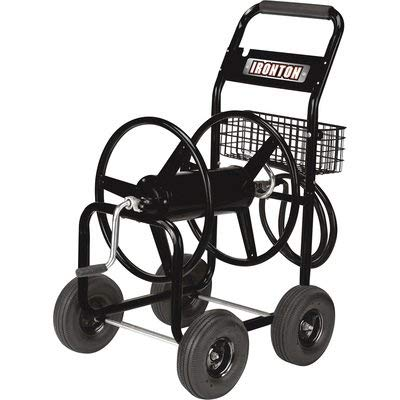 Ironton Garden Hose Reel Cart - Holds 5/8in. x 300ft. Hose