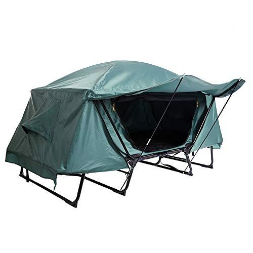 ZHRLQ Übergroßes Zelt Wandern Schlafsofa Zelt Kinderbett Falten Outdoor Camping Off-Ground Zelt mit Tragetasche für Camping, Wandern, Angeln,Single