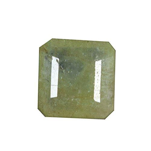 Gemhub Increíble 3.15 CTS EGL Certificado Amarillo Verdoso Fino Corte Cuadrado Esmeralda Floja Piedra Preciosa para la joyería DH-763