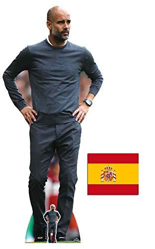 BundleZ-4-FanZ PEP Guardiola Fußball-Manager Lebensgrosse und klein Pappfiguren/Stehplatzinhaber/Aufsteller/Standup Fan Pack, 180cm x 76cm Enthält 8X10 (25X20Cm) starfoto