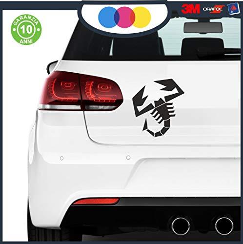 mural stickers Adesivi Scorpione Abarth Sport Stripes Adesivo per 500 Turbo Abarth Tuning Adesivi Auto Decorazioni Accessori 20 X 20 Nero