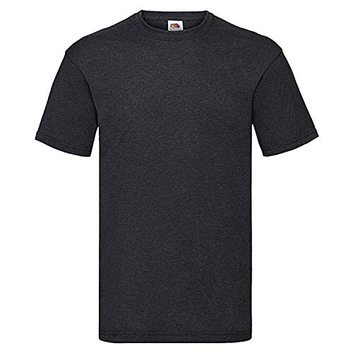 Fruit of the Loom - T-Shirt 'Valueweight T' / Dark Heather Grey, M