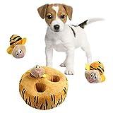 HUILI Peluche para Perros Squeaky Cute Chew Toy Durable Pet Chewer Mordiendo Sonido Squeakers Hide and Seek Toys Diversión Puzzle Interactive Puppy Toy para Perros pequeños a medianos,A