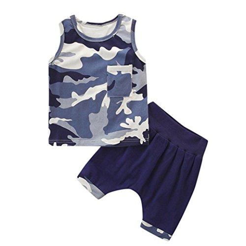 Hirolan Babykleidung Kleinkind Ärmellose Oberteile + Shorts Kinder Baby Mädchen Tarnung Gedruckt Sweatshirts&Hosen Outfits Sätze Neugeborene Kleidung (110, Tarnung)