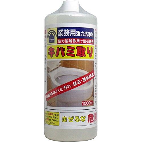 尿石除去剤 掃除用品 強力溶解作用で尿石除去 便利 業務用強力洗浄剤 キバミ取り 1000mL【2個セット】