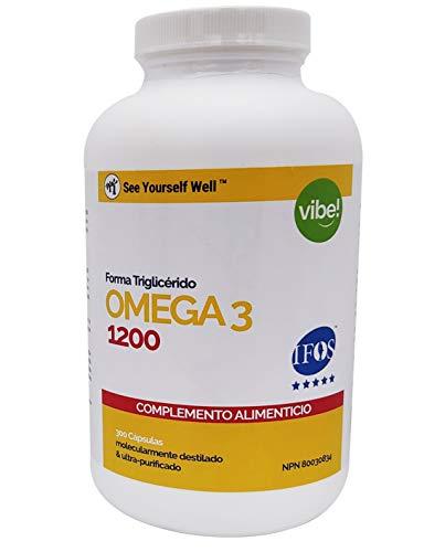 Omega 3 SYW. (300 cápsulas de 1000 mg) Certificado IFOS. Forma Triglicérido. Altamente concentrado: 400 mg de EPA y 200 mg de DHA. De grado farmacéutico, ultra-refinado y molecularmente destilado.
