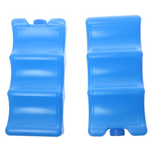 Contour Pack de Glace Refroidissement Élément Congélateur Transport de Lait - 600ml, Blue