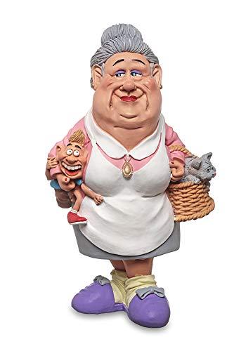 Les Alpes Figura de la profesión Abuela, 18 cm - estatua pintada a mano con mucho cariño sobre resina, muchos detalles - Figurilla Colección de estatuas Funny World Professions Familia