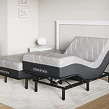 "Sven & Son Split King Essential Adjustable Bed Base Frame + 14"" Luxury Cool Gel Memory Foam Hybrid Mattress, Wireless, 5 Minute Assembly, Head & Foot Articulation (Split King + 14"