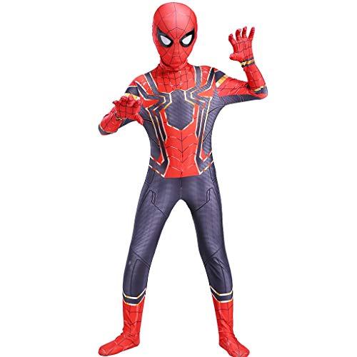 YUNMO Attrezzature Fun Calzamaglia di Halloween for Bambini Costume Cosplay 3D Spiderman Digitale (Size : S)