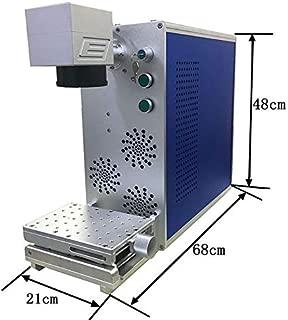 JIN ZHI YIN Portable Mini 20W Metal Laser Engraving Machine Fiber Laser Metal Marking Machine for Plastic, Ceramic