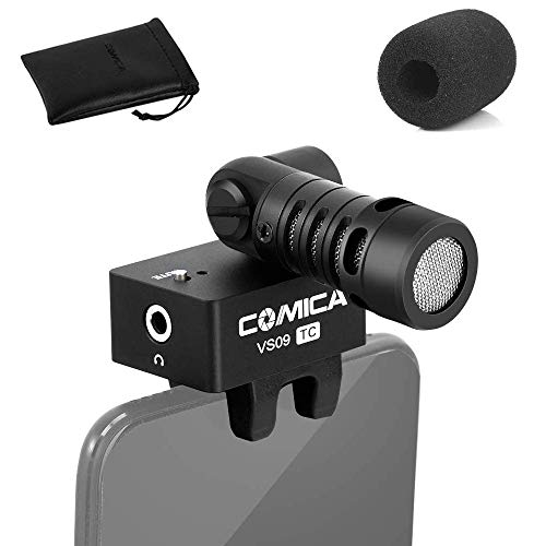 USB Type-C Smartphone Microphone, Comica CVM-VS09 Video Recording Mic for Android, USB C Shotgun Micro for YouTube Vlogging Facebook Interview Livestream, for Samsung Google Pixel Moto Huawei Phone.