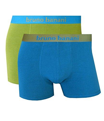 Bruno Banani Short 2 Pack Flowing Farbwahl 2201-1388 (XXL/8, petrol/moos 1780)