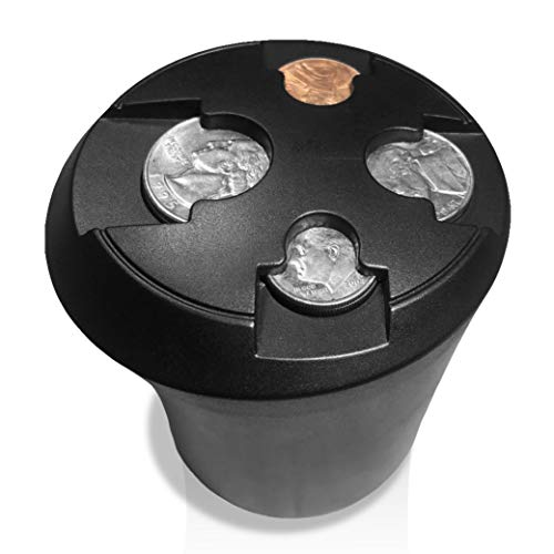 T1A Cup Holder Change Organizer - Coin Sorting Cupholder for Cars & Trucks | Sorts Quarters, Dimes, Nickels and Pennies | Sort and Organize Your Loose Change, Easy Access and No More Mess