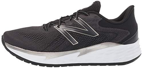 New Balance Men's Fresh Foam Evare Road Running Shoe, Black (Black/Silver/White), 7 UK