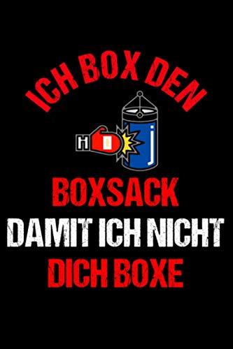 Boxen lustiger Spruch Boxsack: Tagebuch oder Notizbuchs im 6x9 Format zum Aufschreiben von täglichen Gewohnheiten mit 120 Seiten