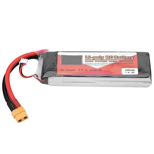 Dilwe Batería RC, Batería Recargable LiPo ZOP Power 2S 7.4V 6000mAh 5000mAh 4500mAh 5500mAh con Conector XT60(4500mAh 60C)
