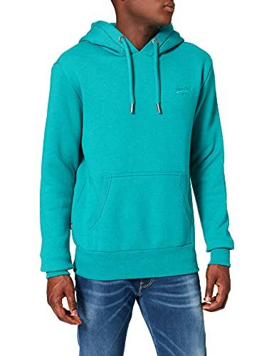 Superdry Mens M2010996A OL Classic Hood, Ocean Green Marl, L