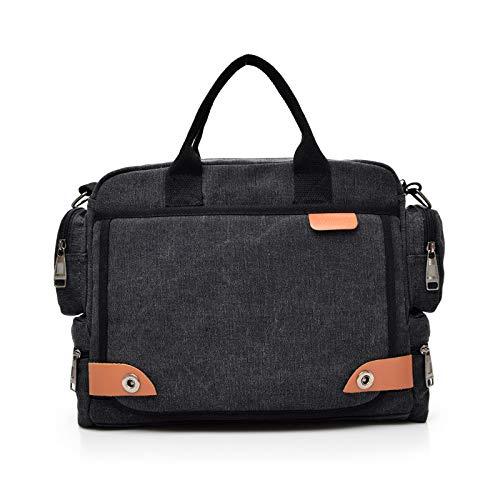 FANDARE Retro Schoudertas Canvas Messenger Bag voor Mannen Crossbody Tas Handtas fit 12.9 inch Laptop Business Satchel…