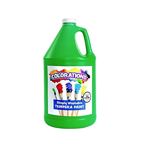 Colorations - GWSTGR Washable Tempera Paint, Gallon, Green, Non Toxic, Vibrant, Bold, Kids Paint, Craft, Hobby, Fun, Art Supplies