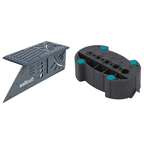 Wolfcraft 5208000 Escuadra 3D, 0 W, 0 V, Gris, 150 x 275 x 66 mm + 4685000 4685000-1'accumobil guía para taladrar móvil