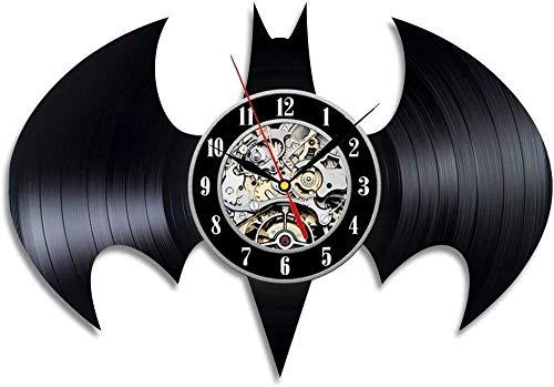 Batman Theme Vintage Vinyl Horloge Murale Horloge Meilleur décor Mural Cadeau