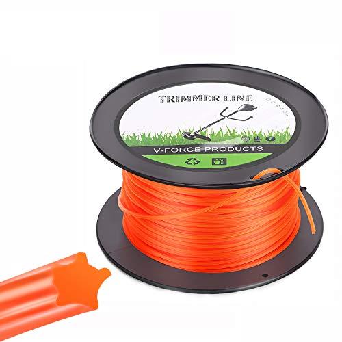 Trimmer Line Hilo de Corte para Desbrozadora 2.8mm/100M para Cortacésped para Jardin Hierba Naranja Estrella