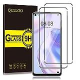 QULLOO Protector de Pantalla Huawei P40 Lite 5G, Cristal Templado [9H Dureza][Alta Definición][Fácil de Instalar] para Huawei P40 Lite 5G (2 Piezas)