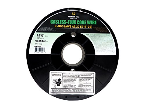 Kiswel USA K-NGS E-71TGS 0.035in. Dia 10lb. Gasless-Flux Core Wire Welding wire Made in USA
