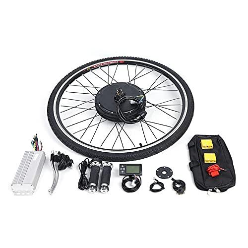 Fetcoi Rueda delantera y piezas de bicicleta eléctrica de 28 pulgadas, kit de conversión para bicicleta eléctrica, bicicleta delantera pedelec, kit de conversión con pantalla LCD, 36 V, 250 W