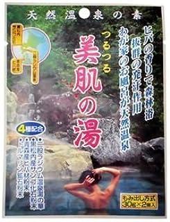 天然温泉の素 つるつる美肌の湯 30g×2個入(入浴剤) (10個セット)