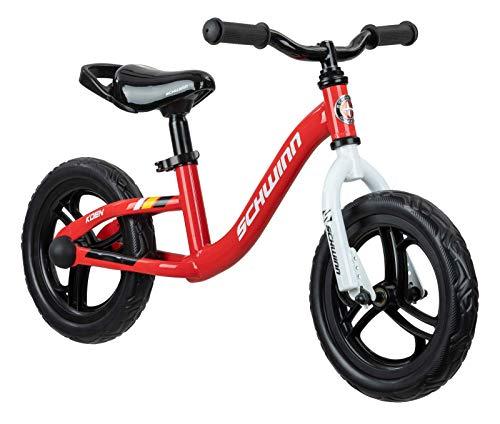 Schwinn Koen Boys Bike for Toddlers and Kids, 12-Inch Balance Bike, Red