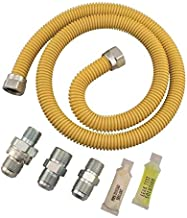 Dormont SmartSense Gas Appliance Connector Kit (0222529) XL30C-313MV6KIT-TS-36B-5/8 In. OD (1/2 In. ID), 1/2 In. FIP X 1/2 In. MIP X 1/2 In. MIP EFV-TS X 36 In, Length Yellow Coated