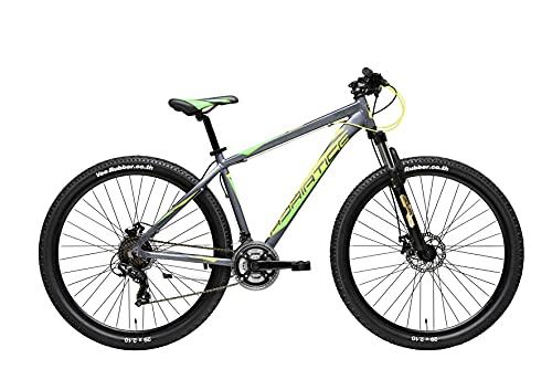 Adriatica Bici Bicicletta MTB Wing RCK 29 Grigio Giallo Shimano 24V Alluminio L