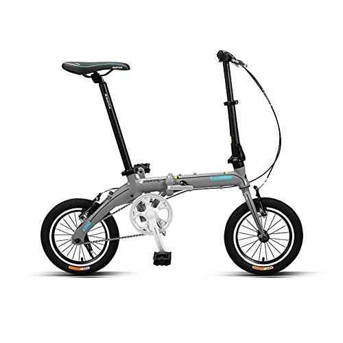 Bicicleta, Bicicleta PortáTil de 14 Pulgadas, Bicicleta de Viaje de Ocio de la Ciudad, Marco Plegable de AleacióN de Aluminio, Soporte de Carga Fuerte, para Uso de Adultos/Estudiantes/C