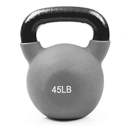 RitFit Neoprene Coated Solid Cast Iron Kettlebell - Great for Full Body Workout, Cross-Training,...