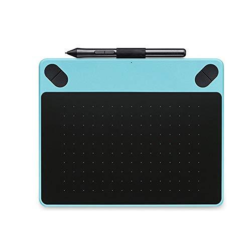 GTJXEY Digitales Grafiktablett, Zeichentisch, Grafiktablett mit Stift und USB-Kabel, geeignet für Maldesign,Blau