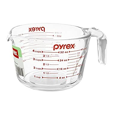 Pyrex Glass Measuring Cup 4 Cup ( 32 Oz ) Glass